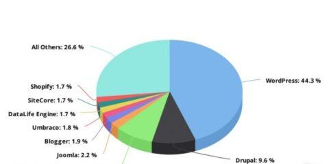 WordPress domine la part de marché des 10 000 meilleurs sites Web